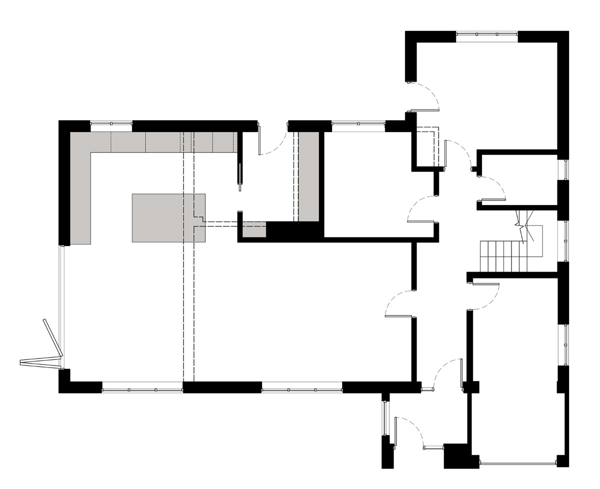 The proposed ground floor plan