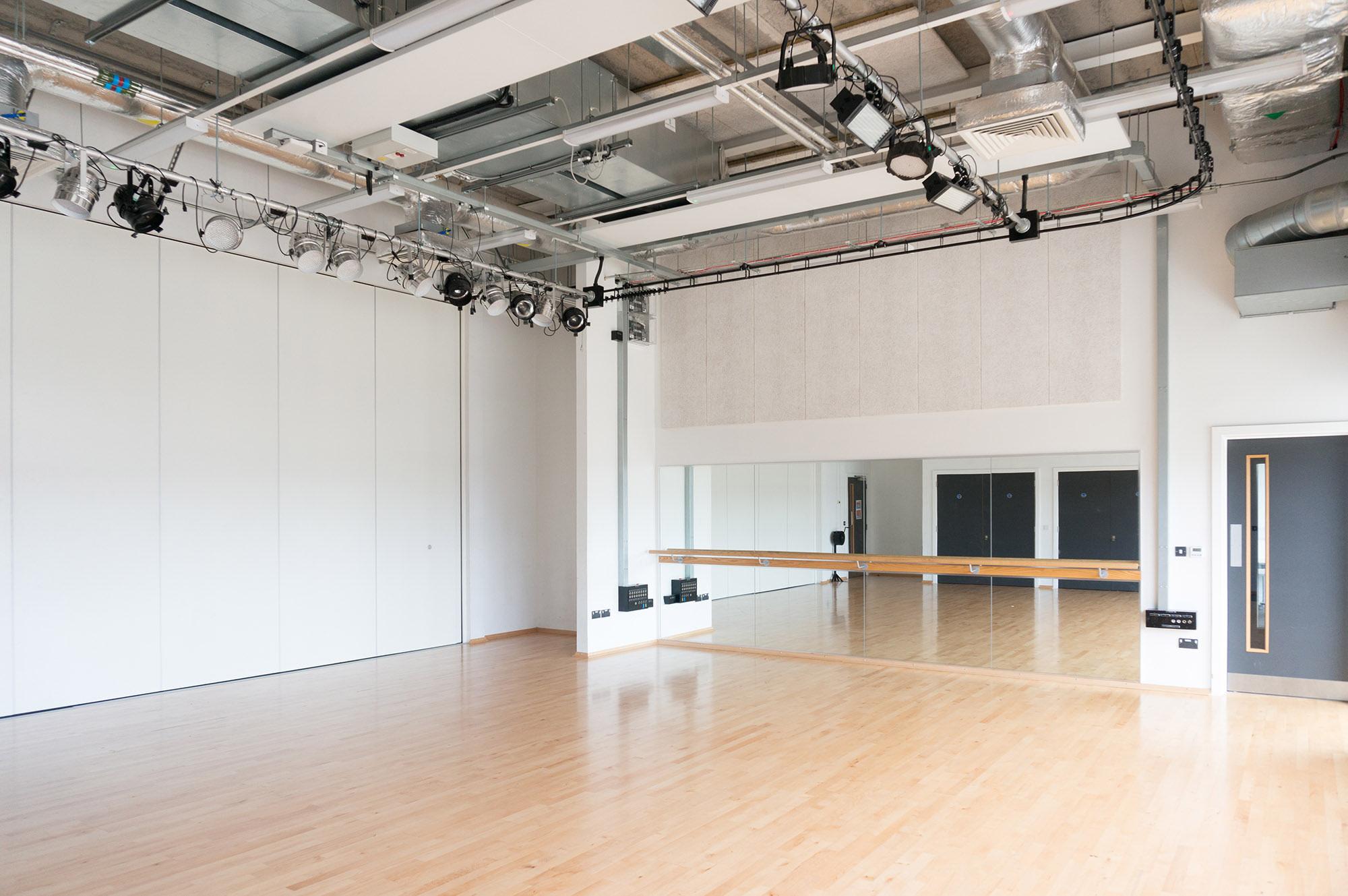 View of the dance studio